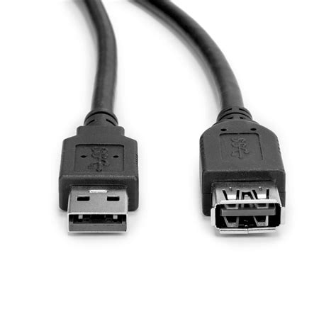 6ft USB 3.0 Extension Cable, Black, Type A, Male/Female ( 2 PACK ) BY NETCNA