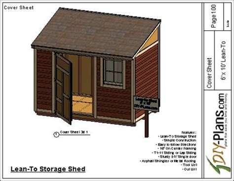 6x10 Lean To Shed Plans Free