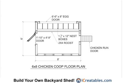 6x8 Chicken Coop Plans Printable