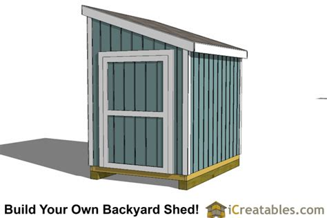 6x8 Single Door Lean To Shed Plans Free