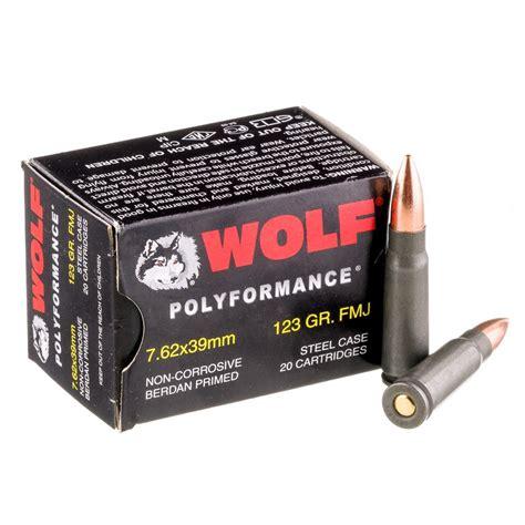 7 62x39 123gr Fmj Wolf Wpa Polyformance Ammo Case 1000 Rds