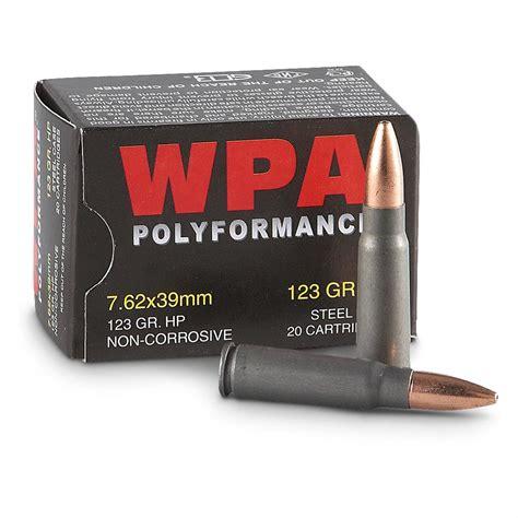 7 62x39 Ammo 123gr Fmj Wolf Wpa Polyformance 20 Round Box
