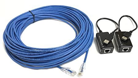 75 Foot USB 1.1 A/A Extension Kit Over Plenum Cat5e sold by Custom Cable Connection