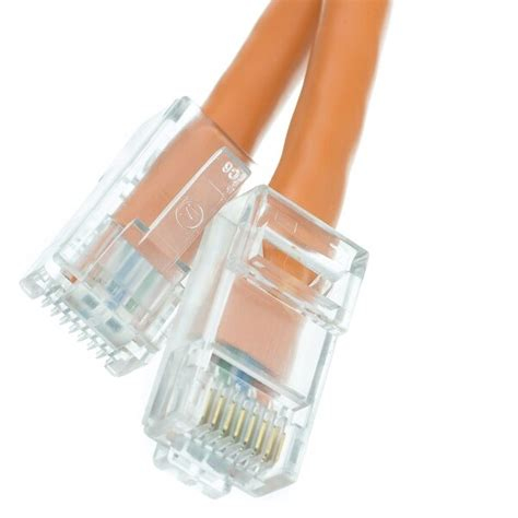 7ft Cat6 Orange Ethernet Patch Cable, Bootless ( 3 PACK ) BY NETCNA