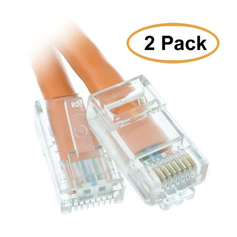 7ft Cat6 Orange Ethernet Patch Cable, Bootless ( 5 PACK ) BY NETCNA