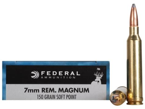 7mm Rem Mag 150 Grain Soft Point Federal Power-Shok - 20