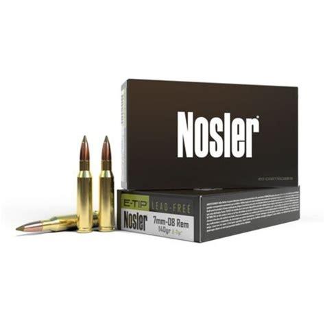 7mm08 Remington Nosler Bullets Brass Ammunition