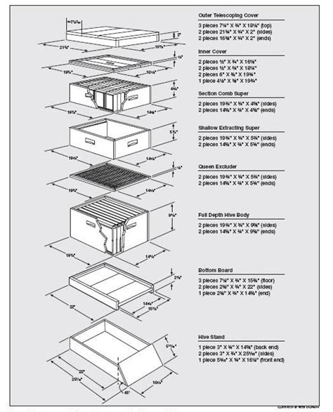 8 Frame Langstroth Beehive Plans