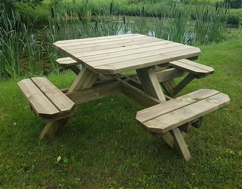 8 Person Square Picnic Table