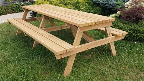 8 Wooden Picnic Table Plans