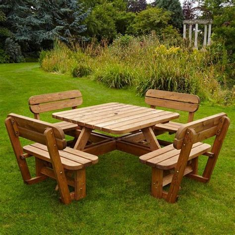 8-Seater-Square-Picnic-Table-Plans