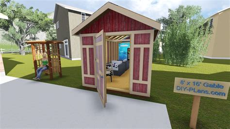 8-X-16-Gable-Shed-Plans