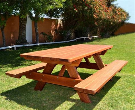 8 Ft Picnic Table Detached Benches Plans