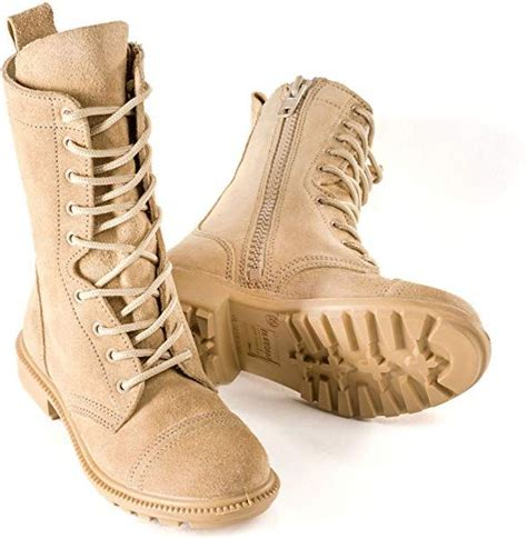 832 Desert Combat Boot - All Suede Leather with Side Zipper (Unisex) Casual Outdoor for Men and Women