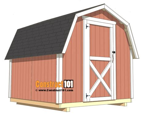8x8 shed plans Image