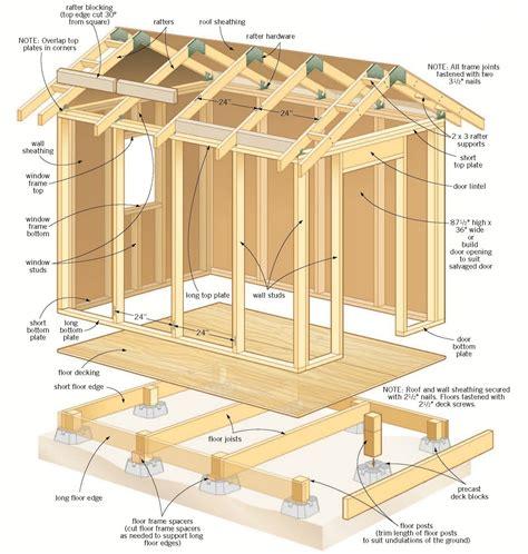 8x8 storage shed plans free Image