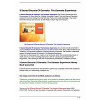 9 sacred secrets of ganesha: the ganesha experience comparison
