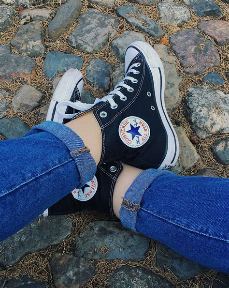 90s Style Converse High Top Sneakers