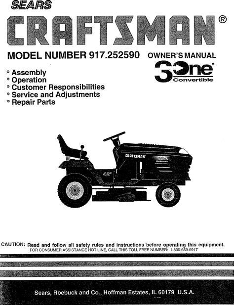 917 252590 Craftsman Lawn Tractor Manual - Hammerwall