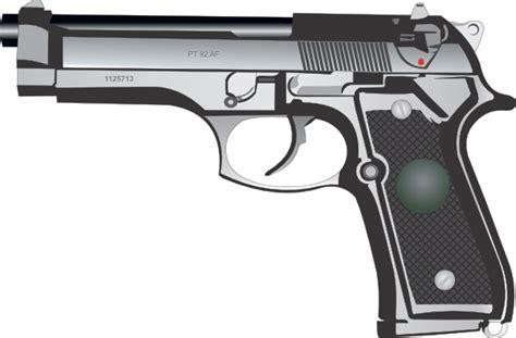 9mm Handgun Clipart