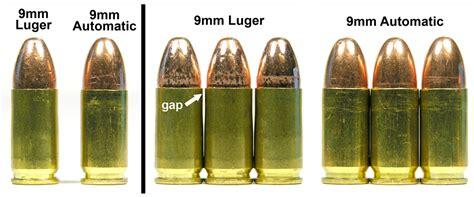 9mm Lugar Vs 9mm Auto Ammo