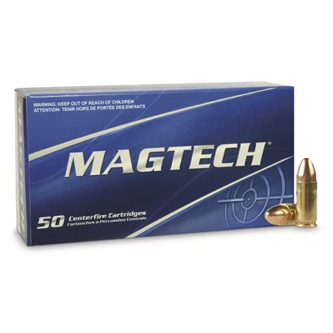 9mm Luger 115 Grain Fmj Ammo By Magtech