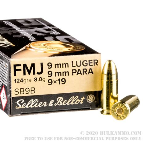 9mm S B 124gr Fmj Ammo