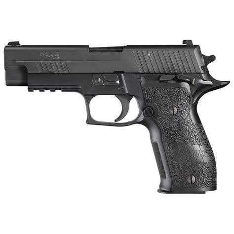 9mm Sig Sauer P226r And Brown Magazine Holder