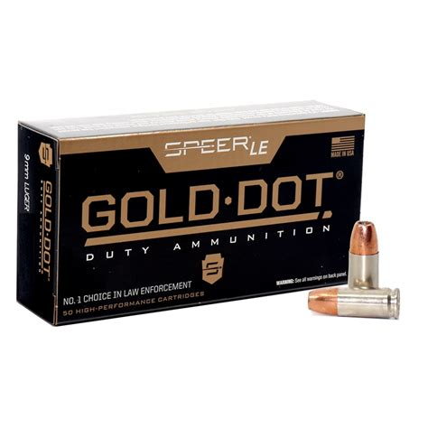 9mm Speer LE Gold Dot 115gr P HP - Ammo To Go
