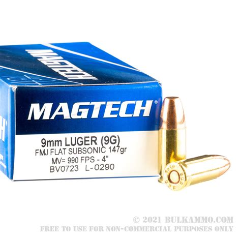 9mm Subsonic Ammo Load Data