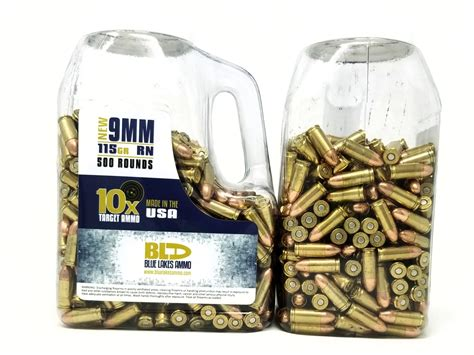 9mm Target Ammo 500 Rounds