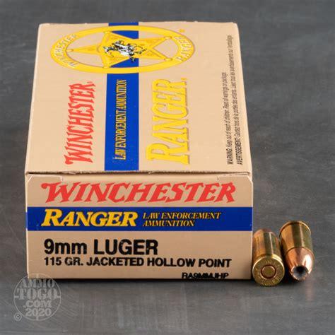 9mm Winchester Ranger 115gr Hollow Point Ammo
