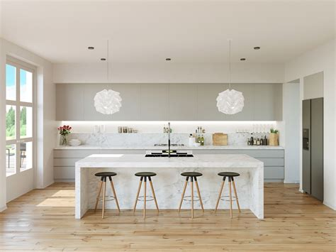 A Contemporary White Kitchen Ideas