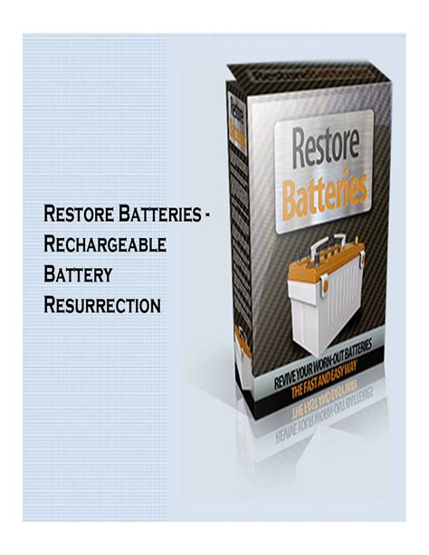 A great how to bring a deep cycle battery back to life get absolutely free