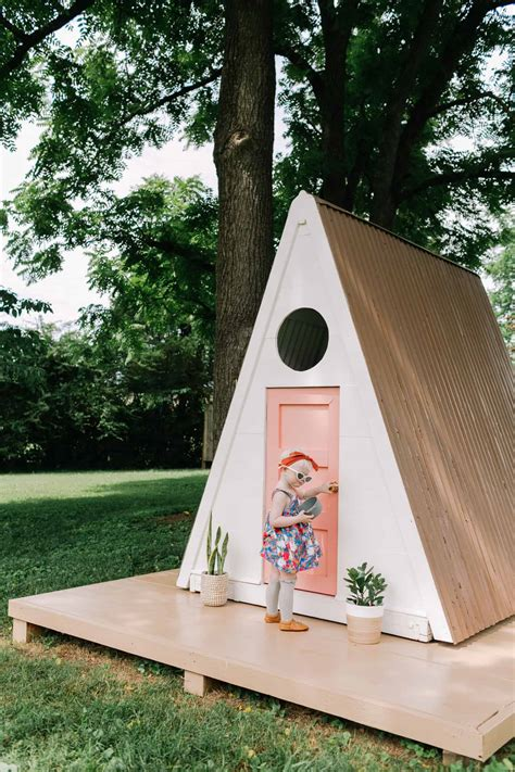 A-Frame-Playhouse-Diy