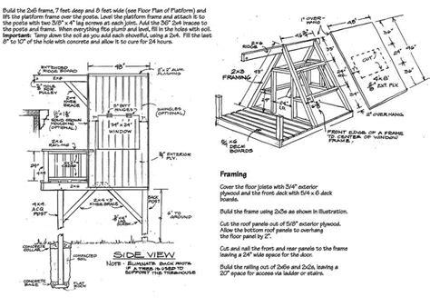 A-Frame-Tree-House-Floor-Plans