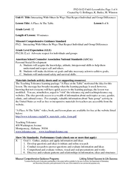 A-Place-At-The-Table-Lesson-Plans