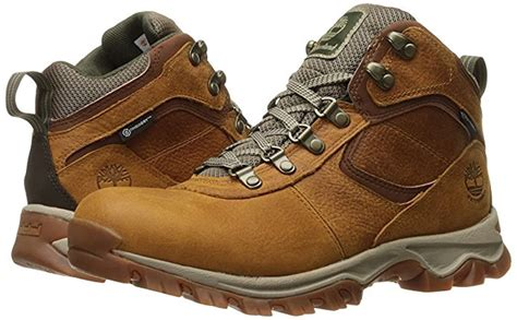 A1L4K Men's Mt. Maddsen Lite Mid Waterproof Hiking Boots, Light Brown Full-Grain - 13 M
