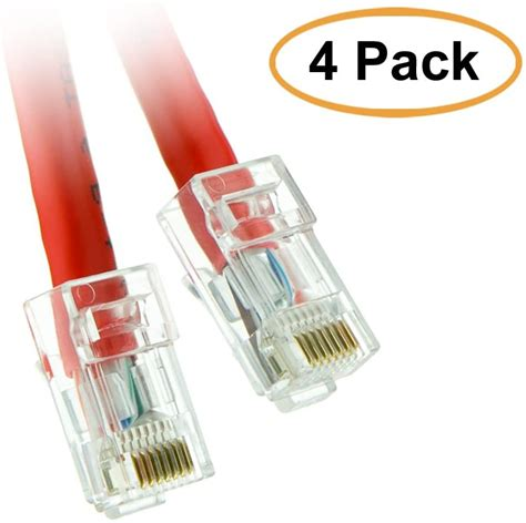 ACL 100 Feet Cat6 RJ45 Bootless Ethernet Patch Cable, Green, 2 Pack
