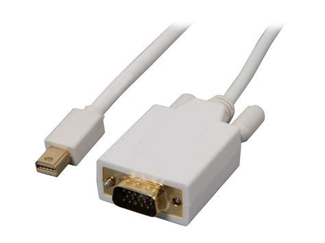 ACL 15 Feet Mini DisplayPort Male to VGA Male Video Cable, White