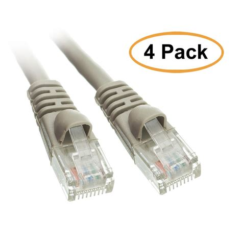 ACL 5 Feet RJ45 Snagless/Molded Boot Gray Cat5e Crossover Ethernet Lan Cable, 10 Pack