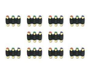 ACL RCA Component Audio/Video Coupler/Gender Changer 3 RCA Female (RGB), 20 Pack