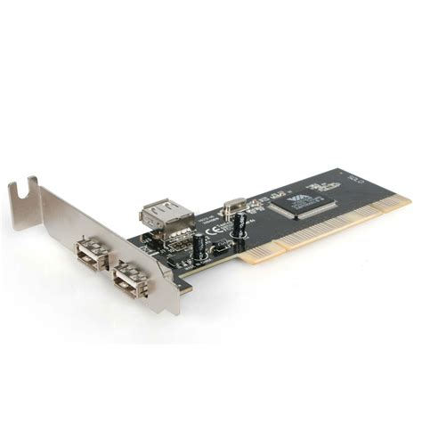 ADD 2 EXTERNAL AND 1 INTERNAL USB2.0 PORTS TO ANY DESKTOP WITH A LOW PROFILE PCI Electronics Computer Networking