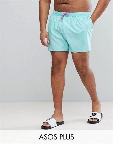 50946154b5d74 Cheap Price Asos Asos Plus Swim Shorts In Turquoise Short Length $19 ...