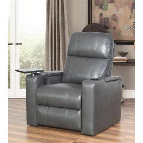 Abbyson Gray Leather Recliner