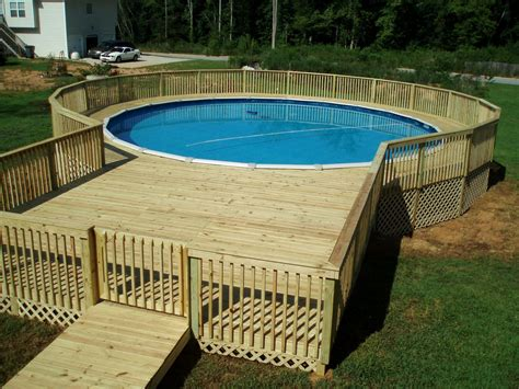 Above Ground Pool Deck Building Plans