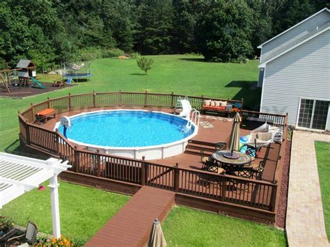 Above Ground Pool Deck Plans And Costs