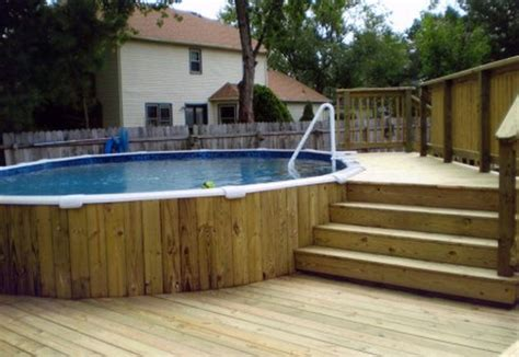 Above Ground Pool Deck Plans Designs