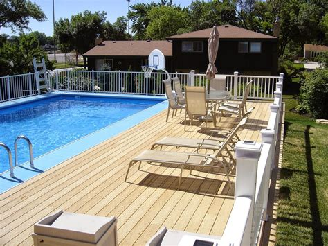 Above Ground Swimming Pool Wood Decks Plans