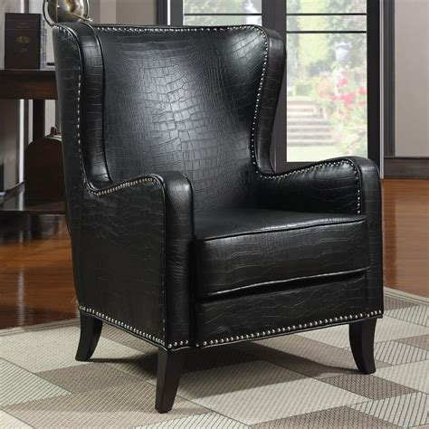 Accent Chairs For Black Leather Sofa